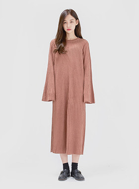 [무료배송] Golgi knit long one-piece-모스빈