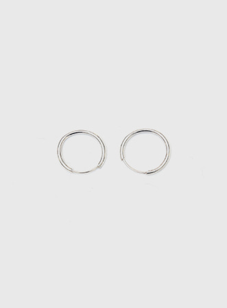 Simple real silver earing-모스빈