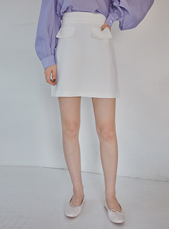 [무료배송] Pocket A-line mini skirt-모스빈