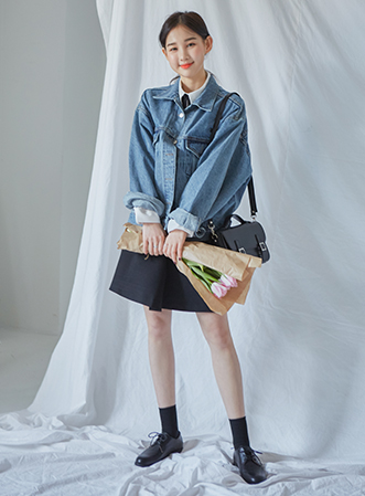[무료배송] Washing point denim jacket-모스빈