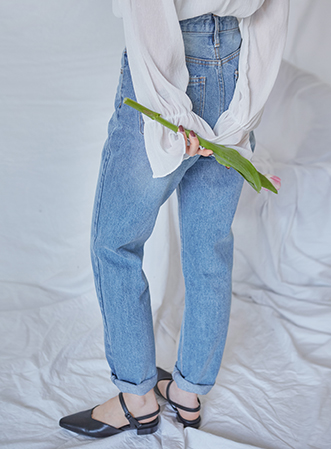 [무료배송] Standard straight denim pants-모스빈