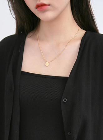 Layer basic necklace-모스빈