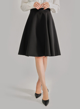 [MOS] average 170. daily long flare skirt-모스빈